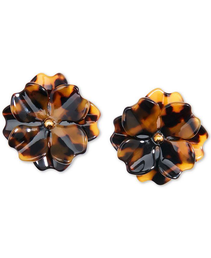 Zenzii - Gold-Tone & Acetate Layered Flower Stud Earrings