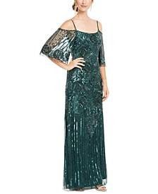 Off-Shoulder Beaded Gown