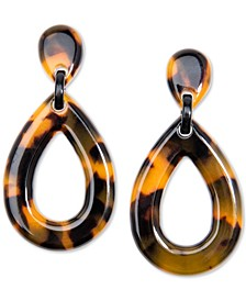 Patterned Acetate Teardrop Drop Earrings