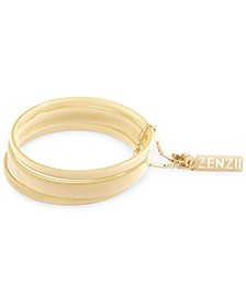 Gold-Tone/Acetate 3-Pc. Set Bangle Bracelets