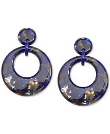 Patterned Acetate Doorknocker Drop Earrings