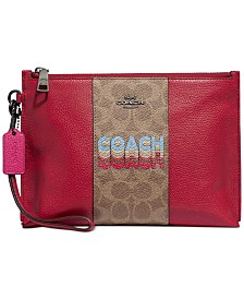 COACH Charlie Pouch In Signature Canvas Blocking By Tyler Spangler Created For Macy's