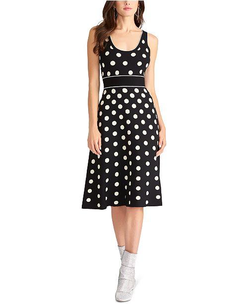 RACHEL Rachel Roy Polka-Dot A-Line Dress