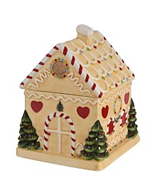 Spode Christmas Tree Gingerbread House Candy Jar