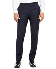 Calvin Klein Men's Slim-Fit Stretch Navy Tuxedo Suit Separate Pants
