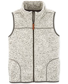 Carter's Little & Big Boys Fleece Zip-Up Vest
