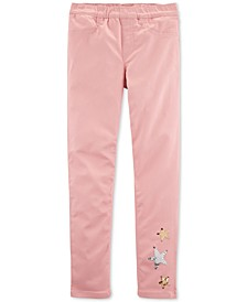 Little & Big Girls Stars Pull-On Twill Jeggings