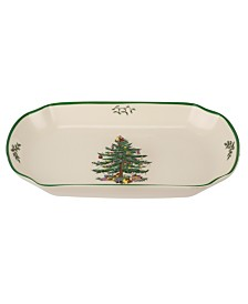 Spode Christmas Tree Rectangular Scalloped Tray