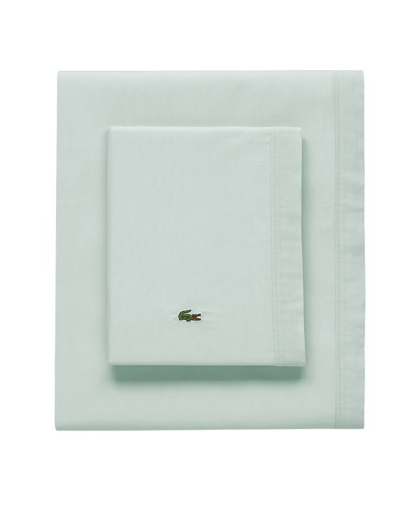Lacoste Home Lacoste Percale Pale Aqua Solid Std King Sheet Set