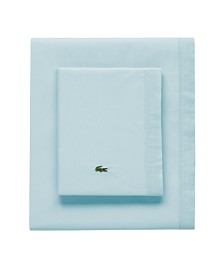 Lacoste Percale Pale Aqua Solid Twin/XL Sheet Set