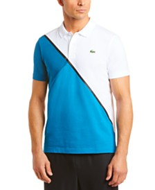 Lacoste Men's Performance Stretch Colorblocked Polo Shirt
