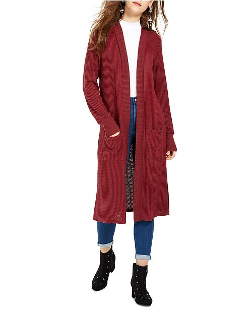 Hippie Rose Juniors' Open-Front Duster