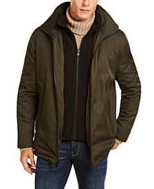 Men's Ripstop Full-Zip Jacket with Fleece Bib