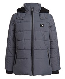 Toddler Boys Hooded Bubble Jacket