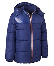 Little Boys Hooded Puffer Jacket With Hat