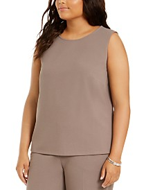 Nine West Plus Size Crewneck Top