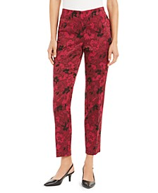 Hollywood-Waist Jacquard Slim Pants, Created for Macy's