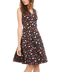Anne Klein Sonoma Coast Printed Fit & Flare Dress