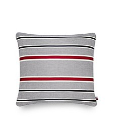 Applique Stripe 20 Square Decorative Pillow
