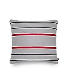 Tommy Hilfiger Applique Stripe 20 Square Decorative Pillow