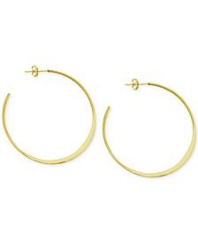 Flattened C-Hoop Earrings