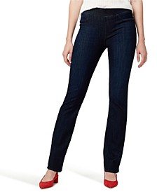 Denim Uplift Pull-On Demi Boot Jeans