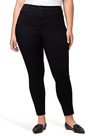 Plus Denim Social Standard High Rise Skinny Ankle Jeans with Raw Hem