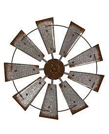 Farmhouse Metal Galvanized Wind Spinner Wall Decor