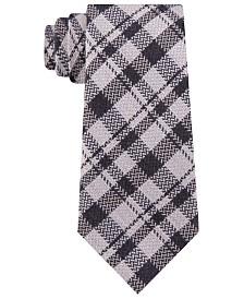 Michael Kors Men's Classic Textured Plaid Tie