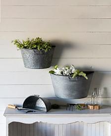 VIP Home & Garden 3-Piece Metal Wall Planters