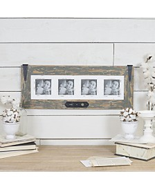 VIP Home & Garden Antique Wood Quad Picture Frame