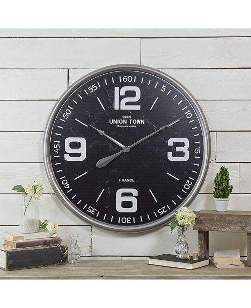 VIP Home & Garden Round Metal Wall Clock