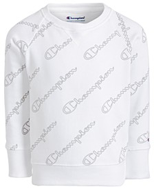 Toddler Girls Script-Print Sweatshirt