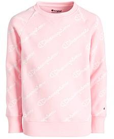 Big Girls Script-Print Sweatshirt