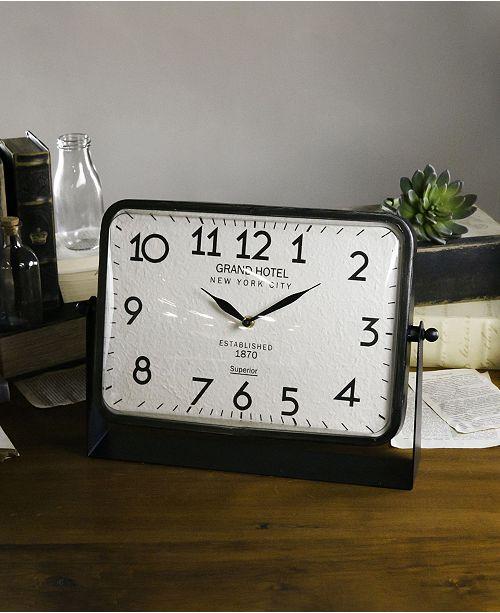 VIP Home & Garden Metal Table Clock