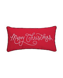 C&F Home Merry Christmas Applique Embroidered Pillow