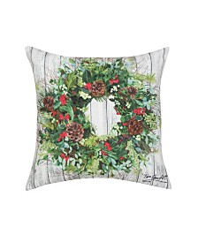 C&F Home Christmas Wreath Indoor/Outdoor Pillow
