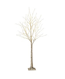 Everlasting Glow 6-Foot Birch Bark Effect Lighted Tree with LED Warm White Lights