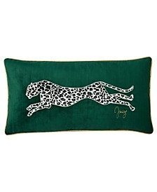 "Velvet Cheetah 14"" x 24"" Throw Pillow"