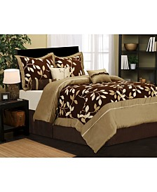 Dussi 7-Piece Taupe Queen Comforter Set