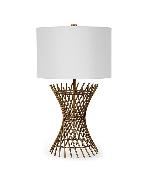 Hudson & Canal Otho Table Lamp In Antique Brass