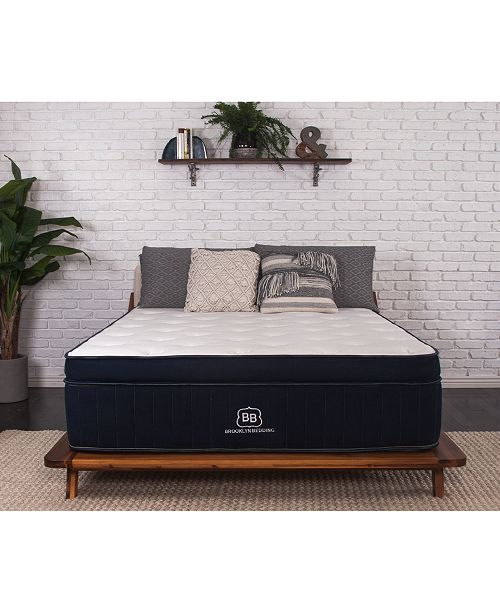 "Brooklyn Bedding Abbey 14"" Firm Euro Pillow Top Mattress- Twin XL, Mattress in a Box"