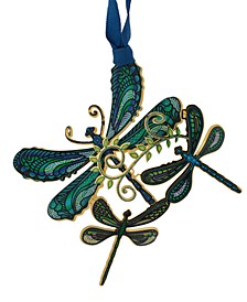 Breezy Dragonfly Collage Ornament