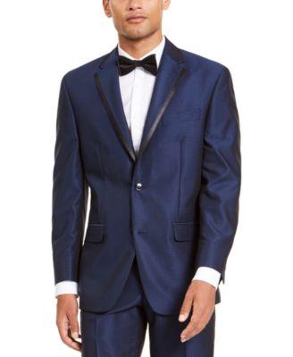 Men's Classic-Fit Blue Diamond Suit Separate Jacket