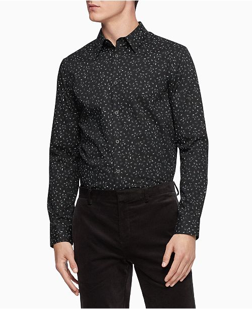 Calvin Klein Men's Slim-Fit Stretch Paisley Shirt
