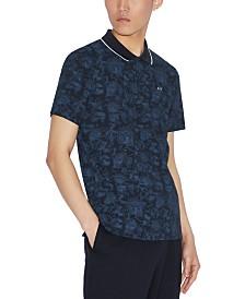 A|X Armani Exchange Men's Tipped Paisley Polo Shirt