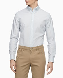 Calvin Klein Men's Slim-Fit Stretch Striped Shirt
