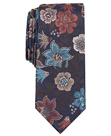 Bar III Men's Ryewood Skinny Floral Tie, Created for Macy's