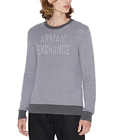 Men's Textured Logo Sweater