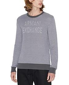 Men's Textured Logo Sweater